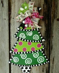 Christmas door hanger Christmas tree door hanger Christmas