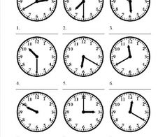 Time Worksheets for Kids Telling Time Lessons Tes Teach Clock Worksheets, Spanish Worksheets, Worksheets For Kids, Spanish Lessons, English Lessons, Learning Spanish, Telling Time In Spanish, English Exercises, Spanish Exercises