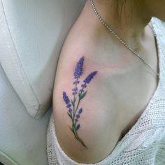 """""""藍 - 薰衣草 Lavender in blue Original design"""""""