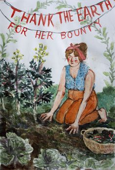 thank the earth for her bounty