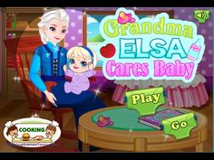 Disney Frozen Game - Grandma Elza Cares Baby Videos Games For Kids