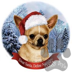 Chihuahua Howliday Dog Christmas Magnet http://doggystylegifts.com/products/chihuahua-howliday-dog-christmas-magnet