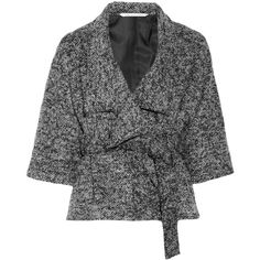 Diane von Furstenberg Haruka bouclé jacket ($385) ❤ liked on Polyvore