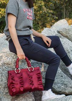 Lola Satchel Maroon Lifestyle