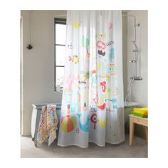 BADBÄCK Shower curtain, multicolor 71x71