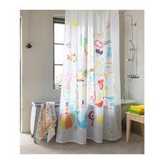 BADBÄCK Shower curtain, multicolor 71x71