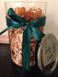 Homemade granola with abricots and licorice almonds
