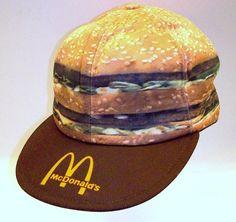 VTG McDonalds Big Mac Genuine Crew Member Baseball Cap Hat 80s Burger Snap Back #McDonalds