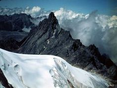 tropical glacier atop Puncak Jaya, Indonesia