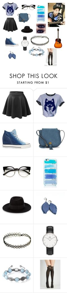 """Jamming with Amber"" by caoimheparsons-1 ❤ liked on Polyvore featuring Converse, Nanette Lepore, Kate Spade, Maison Michel, Daniel Wellington and Shamballa Jewels"