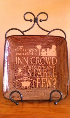 Vinyl Lettering by Susie: Christmas Gift idea...on plate, tile, or in a frame!