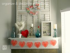 Valentine's Day Mantel decoration ideas