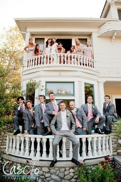Wedding Party Photo Ideas! This woulda been cute also if the bride was on the top by herself and the groom was on the bottom looking up at her sorta like a romeo and juliet look :) wish i knew where this place was so i could do that