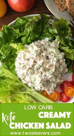 Very popular chicken salad recipe. You'll wonder if this will be bland and tasteless with just few ingredients, but I promise you, it won't. Super flavorful and extremely easy. Ketogenic Recipes, Low Carb Recipes, Diet Recipes, Healthy Recipes, Sausage Recipes, Lunch Recipes, Egg Recipes, Cooker Recipes, Crockpot Recipes