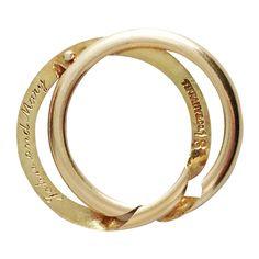 TIFFANY & CO. Edwardian Wedding Band, 18kt Gold Gimmel Ring
