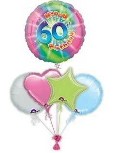 """Mark their birthday with fabulous Rachel Ellen designed specific age """"Stripes"""" birthday balloons. Wonderful age specific helium filled birthday balloons in a box by free balloon delivery. Helium filled balloons in a box."""