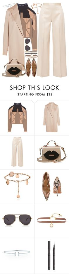 """Untitled #43"" by kueenly ❤ liked on Polyvore featuring Yeezy by Kanye West, The Row, Aquazzura, Chopard, Lonna & Lilly, Tiffany & Co., Burberry and Stila"