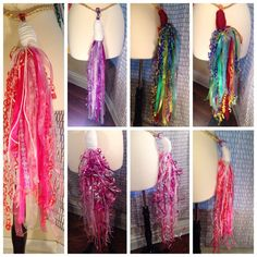 Clip on Unicorn Tails for all ages by SaraDipityShop on Etsy