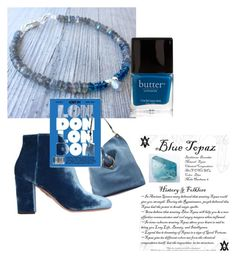 """""""London Blue Topaz"""" by lkcrystallove on Polyvore featuring J.W. Anderson, Butter London and Aquazzura"""