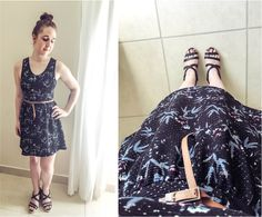 What I wore: Fit and Flare Pattern Dress #style #fashion #outfit #ootd #fashionblog #fblogger #fblog #fashionblogger #outfitidea