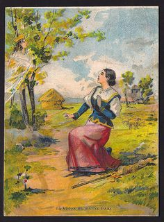 joan of arc vision / > it is aid that Joan first heard the voice while she worked in the garden at her home.