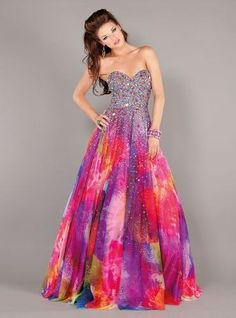 Be a hippie with these tie dye quinceañera dresses! http://www.quinceanera.com/dresses/be-a-hippie-with-these-tie-dye-quinceanera-dresses/