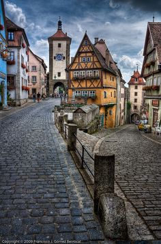 Rothenburg ob der Tauber, Germany. I highly recommend during Christmas time! Amazing place, we used to live close by.
