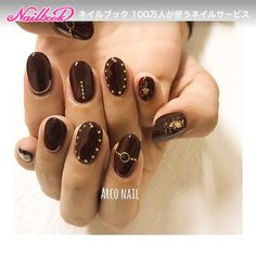 Brown Nails, Black Nails, Cute Nails, Pretty Nails, Autumn Nails, Nail Accessories, Gel Nail Designs, French Nails, Simple Nails