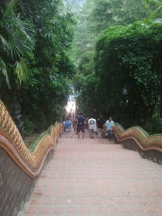 Wat Doi Suhtep Stairs down from the Buddhist Temple Chang Mai Thailand Great Places, Places To See, Places Ive Been, Thailand Travel, Asia Travel, Chang Mai Thailand, Vietnam, Travel Album, Holiday Places