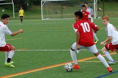 Team America 96 (2014 OBGC Capital Cup, U18/U19 Premiere) vs ABGC United (August 30, 2014) -- Eynnar Claros #10, John Paul Orozco #8 (TAFC96 Soccer)