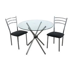Need somewhere to #sit this #summer? #Check #out this #Three #piece #outdoor #dining #set #BigLiving http://www.bigliving.co.uk/furniture/garden/tables-chairs/3pc-dining-set-black-leather-effect-chromed-steel-chairs-glass-table-top-chromed-steel-legs.html