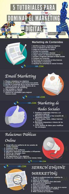 5 tutoriales para dominar el Marketing Online #infografia #infographic #marketing                                                                                                                                                                                 Más
