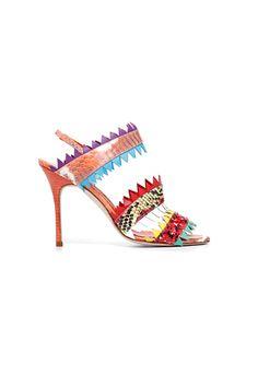 Tendencias: Los zapatos más rompedores de 2013 Explosión de color étnica, de Manolo Blahnik.