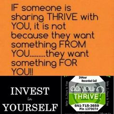 Thrive is the BEST investment you can make in yourself!!! Message me for more info! www.shaynel.le-vel.com