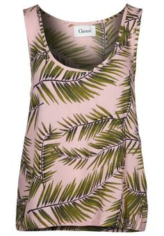 Ganni - PALM LEAVES - Toppe - pink