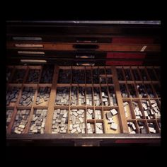 Letterpress - I can smell the wood and ink from here