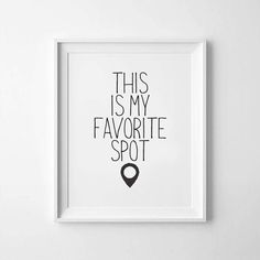 This is my favorite spot Scandinavian Printable Wall Art | Etsy | 1000 Diy Room Decor For Teens, Teen Room Decor, Room Wall Decor, Playroom Ideas, Cute Wall Decor, Wall Decor Quotes, Bedroom Wall Quotes, Wall Art For Bedroom, Bedroom Signs