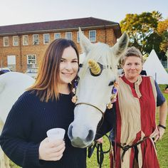 Real-life Unicorn wanted to share my mulled wine 😂 #unicorn #yestheyrereal #horsesofinstagram #unicornsofinstagram #winterfest #medieval #fair