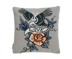 {Franklyn & Vincent} Fine Cell Work's embroidered cushions.