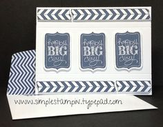 Super fun and classic card using one color!!! Stampin' Up!