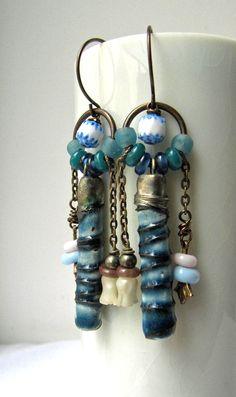 love 'em!!!! Waiting for night handmade earrings beaded by somethingtodo