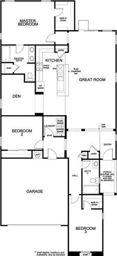 Plan 1849 Modeled - Centennial Springs   KB Home