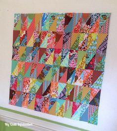 My Quilt Infatuation: Using Scraps From Diamond Quilt