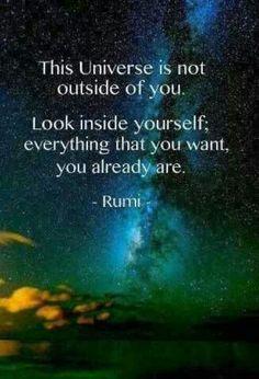 Universe. Rumi.