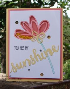 You are my Sunshine Shaker by Stampin.Scrapper - Cards and Paper Crafts at Splitcoaststampers