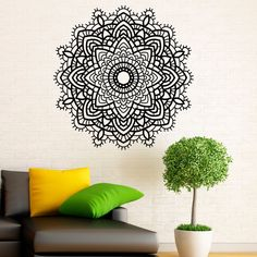 Mandalas Wall Decals Indian Namaste Yoga Removable Vinyl Home Decoration Wall Sticker For Living Room Modern $11.45
