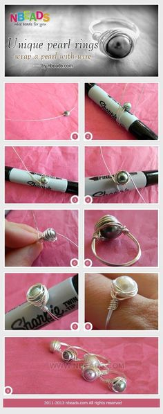 DIY Bijoux Unique Pearl Rings Wrap A pearl with Wire by Amanda Wong | Project | Jewelry /