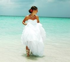 trashin' the dress in beautiful waters
