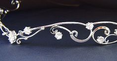 The Starlight circlet crown shown made in Sterling silver and white cubic zirconia