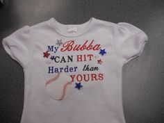 My Bubba can hit harder than yours (Baseball or Softball) by CJHeirlooms